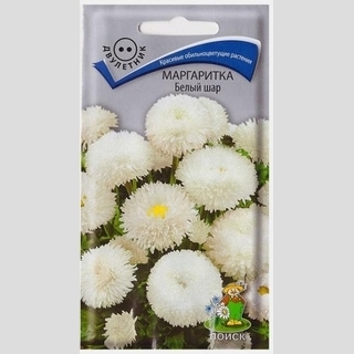 Маргаритка Белый шар - Семена Тут