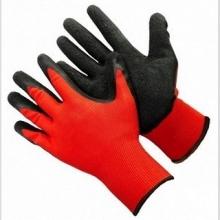 Перчатки нейлоновые с нитрилом (красно-черные) - Семена Тут