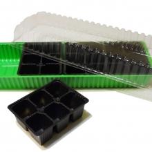 Минипарник + 4 кассеты на 6 ячеек (24 ячейки) - Семена Тут