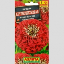 Цинния Крупноцветковая винно-красная - Семена Тут